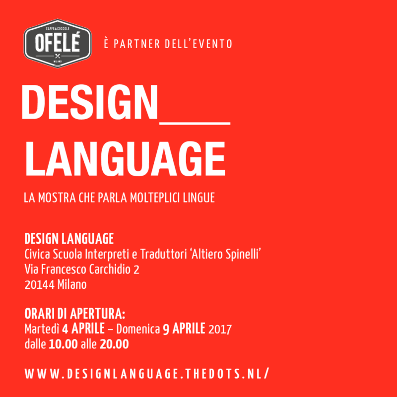 Ofelé x Design Language | Ofelé. Caffè & Coccole.